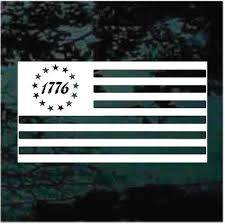 1776 American Flag Decals Stickers Decal Junky