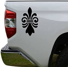 Amazon Com Rosie Decals Fleur De Lis Lily Flower Die Cut Vinyl Decal Sticker For Car Truck Motorcycle Window Bumper Wall Decor Size 6 Inch 15 Cm Tall Color Matte Black Home Kitchen
