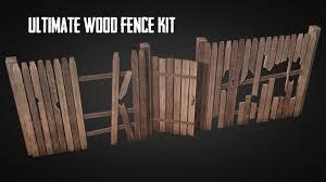 Wood Fence Pack 3d Model Cgstudio