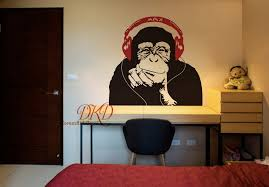 Banksy Wall Decal Monkey With Headphones Banksy Chimp Head Etsy In 2020 Sticker Art Wall Decals Vinyl Decal Stickers