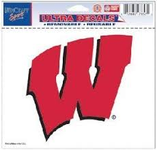 Amazon Com Wisconsin Badgers Removable 5 X6 Car Decal Sports Fan Automotive Decals Sports Outdoors