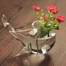glass vases diy fish shape flower