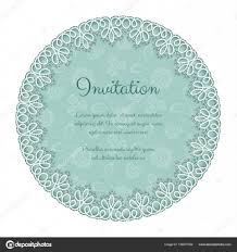 Elegant Invitation With Lace Stock Vector C Nonikastar 156231056
