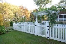 Picket Yaboo Fence Company Backyard Fences Front Yard Design Garden Gates