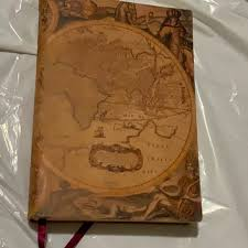 bn italian map leather journal new