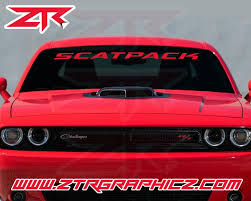 Custom Dodge Challenger Scatpack Windshield Decal Ztr Graphicz