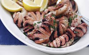 Greek char-grilled octopus (octapothi ...