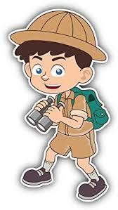 Amazon Com Jjh Inc Boy Scout Binoculars Cartoon Vinyl Decal Sticker Waterproof Car Decal Bumper Sticker 5 Kitchen Dining