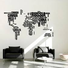English Word World Map Large Black Removable Wall Decals Book Shelf Vinyl Wall Sticker Bedroom Decoration Wall Sticker Bedroom Decoration Bedroom Decorvinyl Wall Stickers Aliexpress