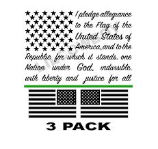 American Flag Pledge Of Allegiance Vinyl Truck Window Sticker Decal 7x10