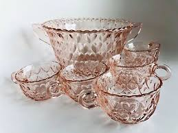 japan toyo glass works punch bowl