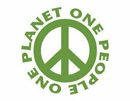 One Planet One People Peace Sign Window Decal Lime Green Vinyl Sticker 6x6 Ebay