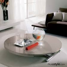 globe glass transformable table by