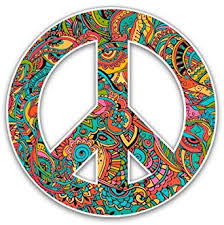Amazon Com Gt Graphics Floral Pattern Peace Sign Vinyl Sticker Waterproof Decal Clothing
