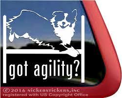Australian Shepherd Agility Dog Decals Stickers Nickerstickers