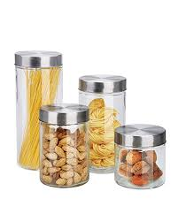 canister set with stainless steel lids