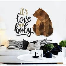 Shop It S Love Baby Bear Polygonal Wall Decal Bear Decoration Overstock 32256045
