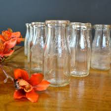 vintage milk bottles on wanelo