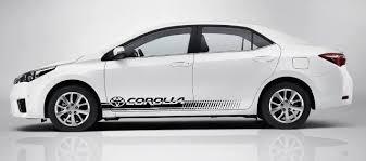 Product 2x Toyota Corolla Side Skirt Vinyl Body Decal Sticker Graphics Premium Quality
