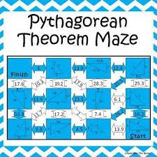 pythagorean theorem maze pythagorean