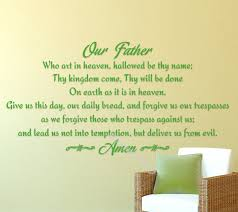 Our Father Lords Prayer Vinyl Wall Decal Sticker Religious God Scripture Pray