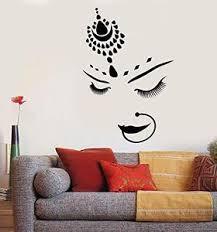 Vinyl Wall Decal India Hindu Bride Girl Beautiful Face Piercing Sticke Poshvinyls