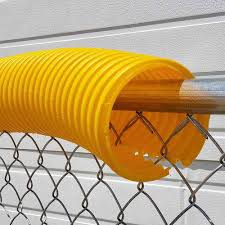 01162 Baseball Fence Poly Cap 250 Fence Topper Ready To Install Yellow Poly Cap Baseball Fence Topper