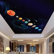 9pcs Planets Luminous Wall Stickers Solar System Fluorescent Wall Stick Waterproof Diy Kids Room Decor Gifts Wall Stickers Aliexpress