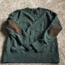 j crew sweaters mens green wool