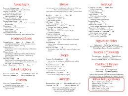 Menu   Chris's Steak & Seafood House