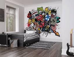Spray Paint Graffiti Photo Wallpaper Mural Kids Bedroom Boys Etsy