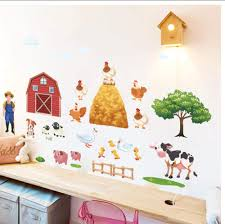Amazon Com Buzdao Heatboywade Happy Farm Wall Stickers For Kids Room Bedroom Living Roon Background Wall Decor Art Wall Decals Poster Kitchen Dining