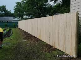 Solid Stockade Wood Fence Panels Straight Top Spruce Hoover Fence Co