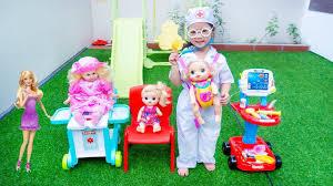 Trò Chơi Bác Sĩ Nhí Nhố Khám Cho Búp Bê Barbie Đồ chơi Bác Sĩ ...
