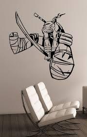Ninja Turtles Wall Sticker Tmnt Decal Leonardo Vinyl Art Etsy