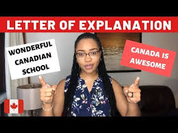 letter of explanation canada student