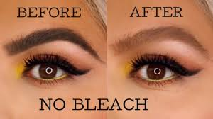 how to lighten your eyebrows at home