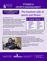 fitness and sports management