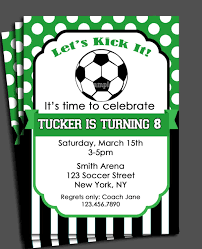 Soccer Invitation Printable Or Printed With Free Shipping You