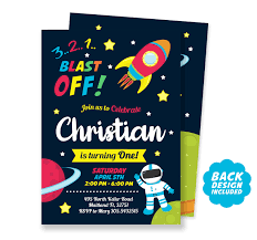 Space Invitation Personalized And Printable Space Birthday