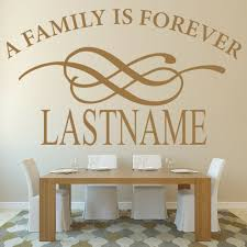 Custom Last Name Wall Sticker Decor Living Room A Family Is Forever Wall Decal For Kitchen Decoration Vinyl Wall Paper Art W967 Wall Stickers Aliexpress