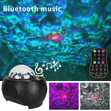 Led Night Light With Bluetooth Music Player Ocean Projector Lamp Starry Sky Voice Activated Lights For Children Kids Room Decor Night Lights Aliexpress