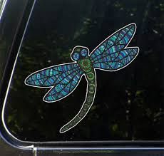 The Decal Store Com By Yadda Yadda Design Co Clr Car Patterned Dragonfly Vinyl Car Decal C Yydc 5 W X 4 75 H