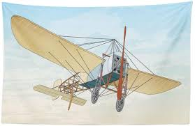 Amazon Com Lunarable Vintage Airplane Tapestry French Bleriot Xi Plane Era Of Aviation Vintage In Colorful Cartoon Design Fabric Wall Hanging Decor For Bedroom Living Room Dorm 45 X 30 Multicolor Home