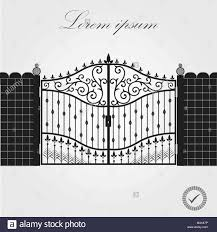 Forged Gate Architecture Detail Decorative Wrought Fences And Gates Vector Set Black Gate Fence Frame Illustration Vector Eps10 Stock Vector Image Art Alamy