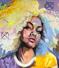 Pin by Priscilla Powell on Francoise Nielly & Voka & Anette Tjaerby Manege  | Black art painting, Portrait art, Art painting