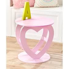 Novelty Pink Heart Shaped Room Accent Table For Kids Teenagers Room Walmart Com Walmart Com
