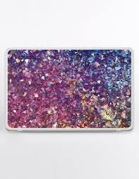 Purple Universal Decal Glitter Hp Laptop Skin Crystal Dell Etsy