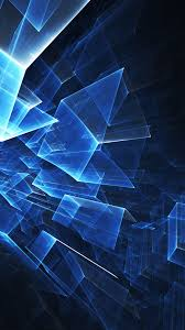 blue cube pattern android wallpaper