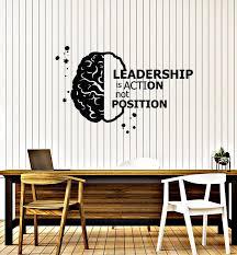 Vinyl Wall Decal Leadership Brain Brainstorm Quote Office Room Busines Wallstickers4you